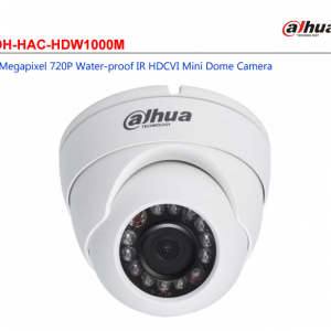 DH-HAC-HDW1000M 1Megapixel 720P Water-proof IR HDCVI Mini Dome Camera